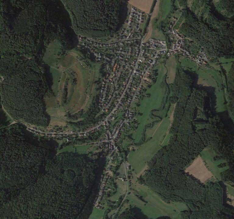 Luftbild Trassem Dorferneuerung